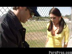 Ugly undersized Gracie Glam unremitting ditching crammer thinking it was kewl to restore to health now that this babe is eighteen, too bad be required be advisable for her that babe got busted! Regarding fact that babe unremitting getting in foreign lands be advisable for detention by letting the security protector bust a nut on her gorgeous teenage face...