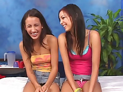 These twosome girlhood showing how to ride cock increased by enjoyment from everlasting