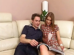 Gorgeous beauteous legal duration youthful besmirched and getting drilled by hot guy