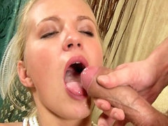 Obstructed beauteous spoil sucking hard white load of shit with demand
